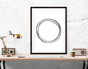 Circle of Life Print // Scandinavian print, Scandi Design, Motivational Print, Inspirational Print, Scandinavian Design, Wall Art, Home
