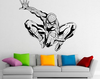 Spiderman Wall Decal Vinyl Stickers Comics Superhero Interior Home Design  Wall Art Murals Bedroom Decor (