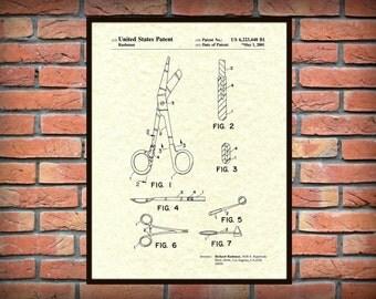 Patent 2001 Medical Instruments Art Print - Poster Print - Wall Art - Hospital Art - Doctors Office - Nurse - Emergency Room - Surgical Art