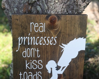 Rustic Signs - Wooden Home Decor - Pony Sign - Horse Sign - Country Decor - Princess Sign - Princess Sign - Custom Signs - Child Decor -Sign
