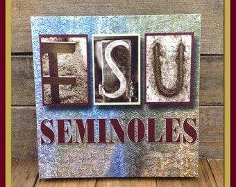 Canvas Gallery Wrap, FSU Seminoles, Wall Decoration