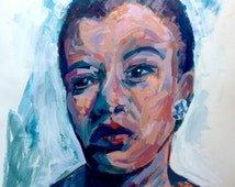 A4/A3 Giclee print - Portrait of Billie Holiday (Lady Day) - based on original painting - modern Impressionist style