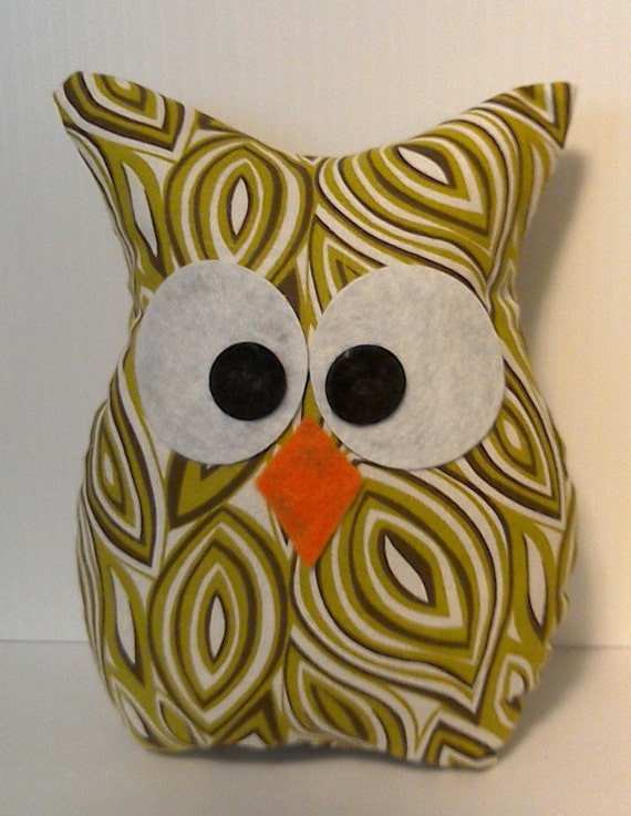 owl home decor fabric owl pillow home decor stuffed fabric owl in by lovegrammababy 11687