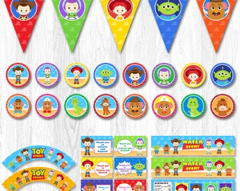 Toy Story Party Package, Toy Story Party Pack, Toy Story Party Party Set, Toy Story Party Supplies, Toy Story party decoration