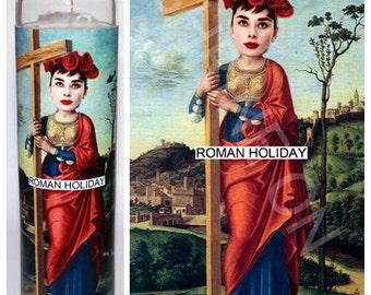 Audrey Hepburn Roman Holiday Celebrity Prayer Candle