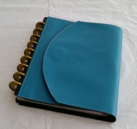 Custom leather wrap around cover set for discbound for Custom photo planner