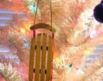 Sled Christmas Tree Ornament