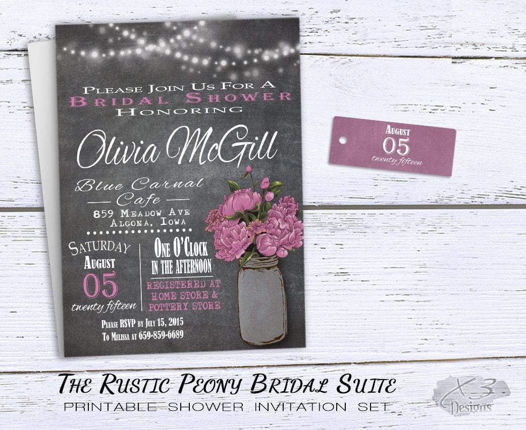 Free Wedding Shower Invitations: Rustic Bridal Shower Invitations Printable Bridal Shower