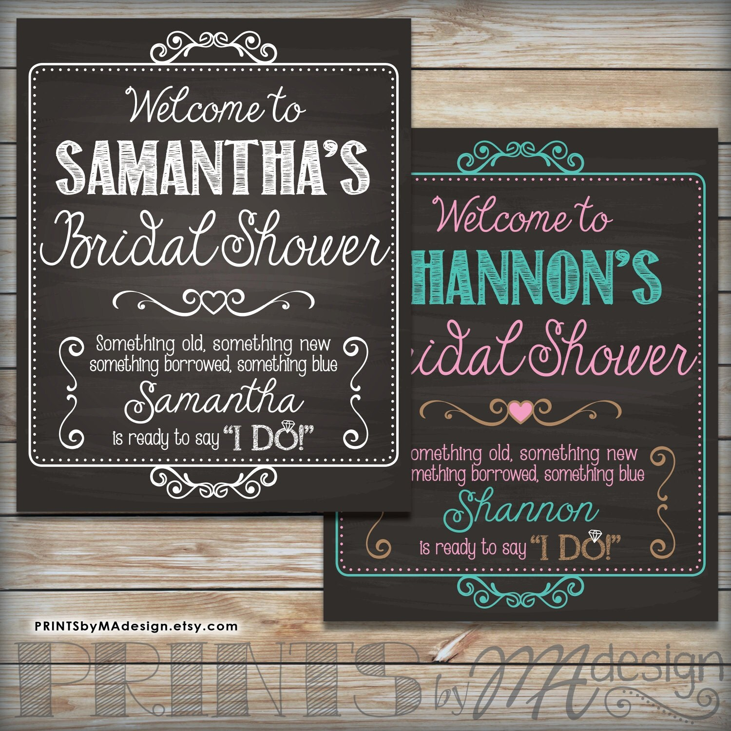 Bridal Shower Sign Personalized Bridal Shower By