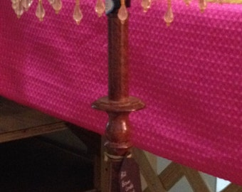 Tall Candle Stick Lamp with beige shade