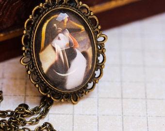 Napoleon Bonaparte Puffin Antique style Necklace