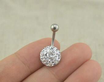 sale-belly button rings druzy belly ring 14g belly button jewelry,blingbling belly ring
