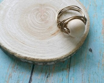 "Shop ""wood beads"" in Rings"
