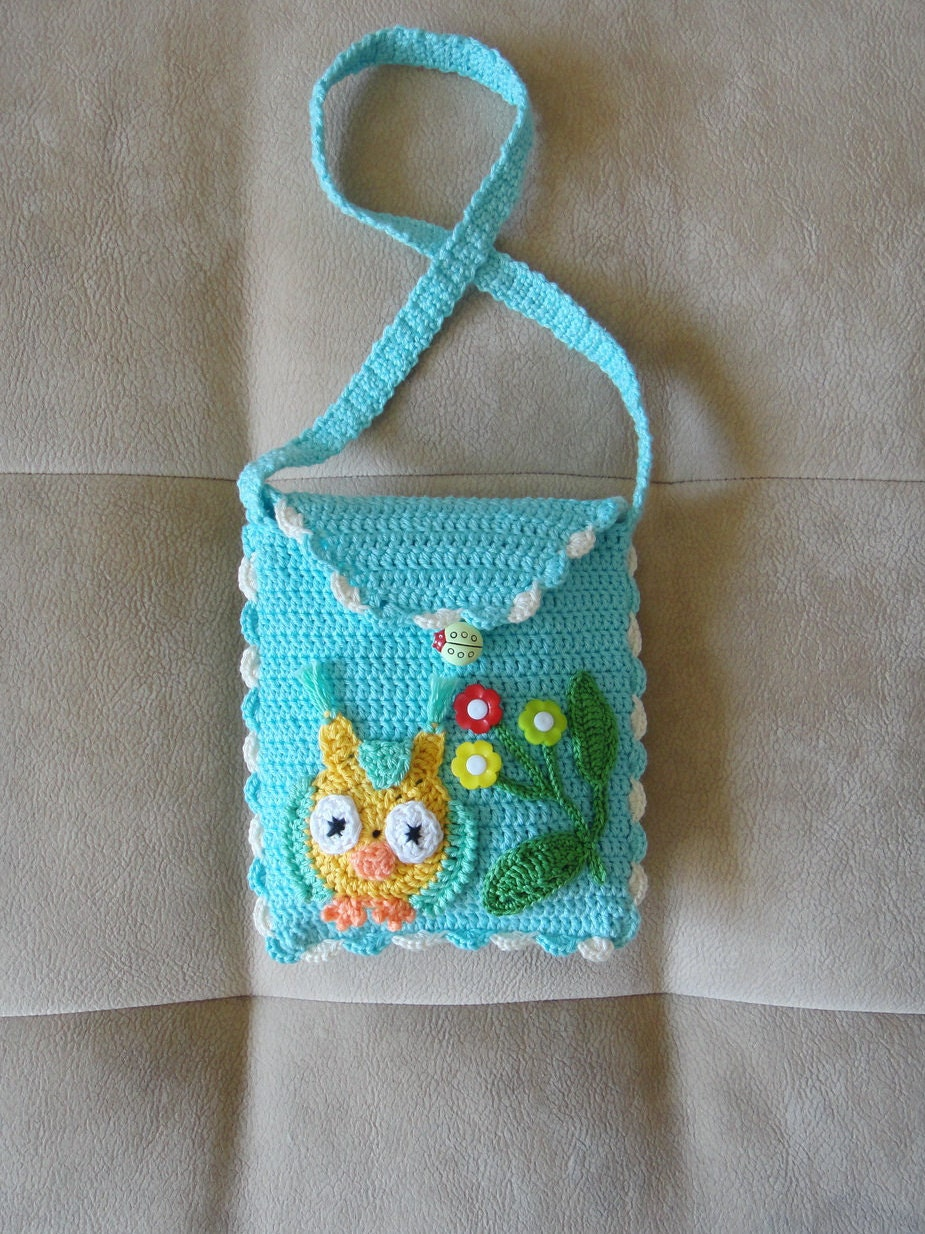 Crochet Bag For Girl : Small Crochet Purse. Girls Crochet Purse. Crochet bag Etsy