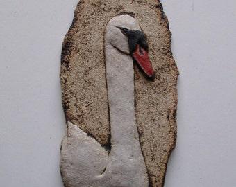 Swan - Ceramic Wall Plaque