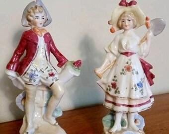 Vintage Bud Vases Adorable Victorian figurines, very unique