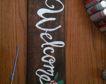 Customizable Wooden Welcome Sign