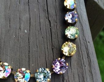 Swarovski crystal necklace w/ pastels