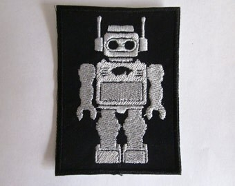 Robot old school robot style Iron on/sew on Patch