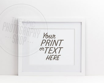 Styled Stock Photography / Print Background / Blank Frame / Empty Frame / White Frame / Product Photography / Staged Photography / BF004