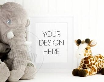 Styled Stock Photography / Empty Blank Frame / Product Photography / Staged Photography / Product Background / Kids Toys Elephant / KN007