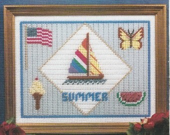 Summer Fun Sampler in Plastic Canvas