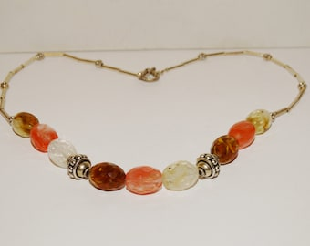 Genuine faceted Crystal Stone Necklace.