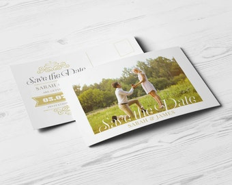 Photographer save the date template photography save the date postcard instant download save the date design engagement announcement wedding