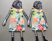 Alicia The Owl Digital Printable DIY articulated paper doll