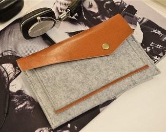 Leather Flap iPad Mini Sleeve Case , iPad Mini Sleeve Felt , iPad Mini Case , iPad Mini Retina Cover , iPad Mini Retina Case #230