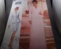1996 Butterick 4444 Sewing Pattern, Dress, Sz. 12-16, Cut