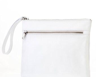 "30% discount. Portfolio hand skin mod. Anna white of ""Santa and Luján"" handmade in Espana.cerrado with zipper"