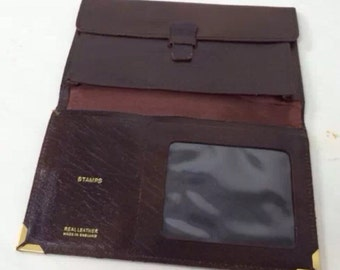 Vtg Wallet Purse Brown Leather