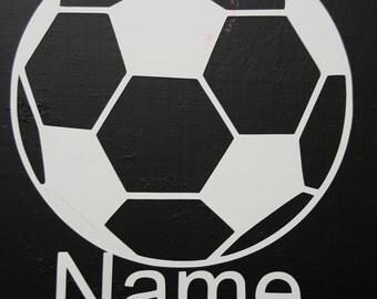 Custom Soccer ball name decal