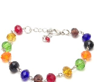 CLOSEOUT ITEM: Czech Multi Colored Bracelet