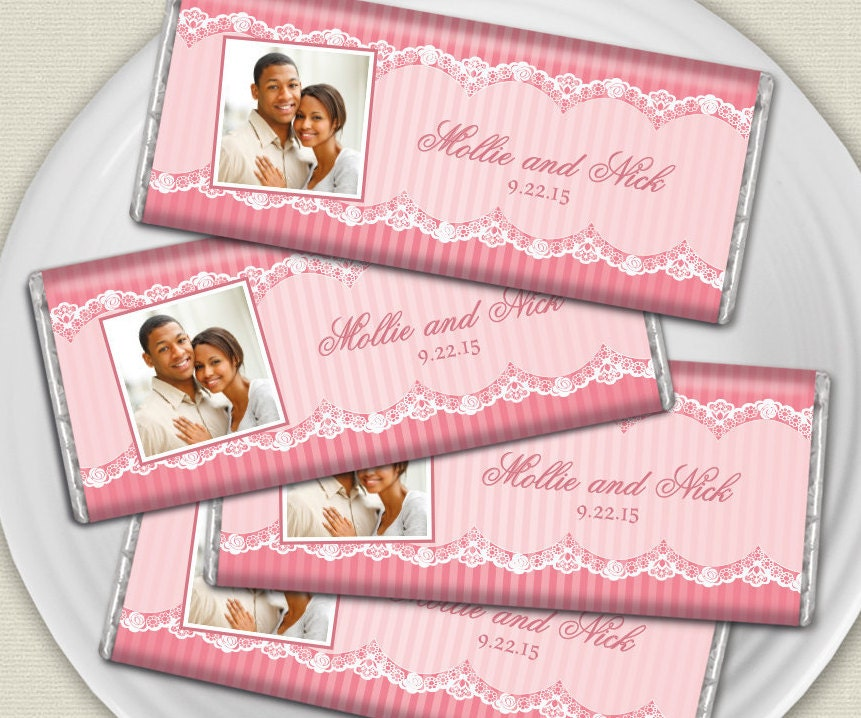 Personalized Candy Wrapper Lace Themed Wedding Favors By WHCandy