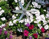 Stained Glass Spinning Garden Pinwheel - Iridescent Crystal