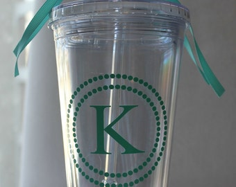 Personalized Tumbler with Straw- 16 oz.