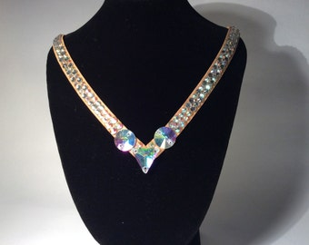 Lucy Rhinestone Crystal Dance or Special Occasion Necklace