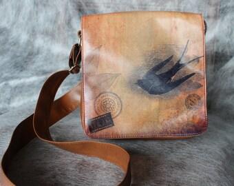 Vintage Messenger Bag,  Shoulder Bag, Crossbody Bag, 1960s