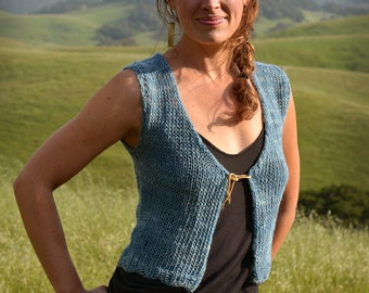 SALE!! 30% off Sleeveless Sweater, Indigo Dream WAS 400– NOW 280–
