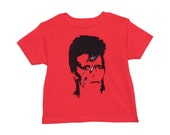 David Bowie Tee 100% cotton children clothing unisex rocker