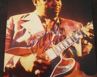 BB King ORIGINAL signed photograph  - autograph - signature - autographed