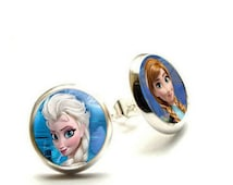 Frozen Stud Earrings- Disney Frozen Elsa Anna- Hypoallergenic Earrings