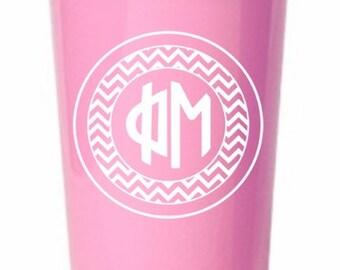 Phi Mu Monogrammed Giant Plastic Cup