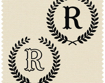 Laurel with Capital Letter R - SVG -PNG -CDR - *.ai -*.jpeg - *.dxf -*.pdf - Printable Clipart - Vinyl Cutting - Laser Cutting and Engraving