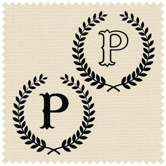 Laurel With Capital Letter P SVG PNG CDR Ai Jpeg By GDrawZ