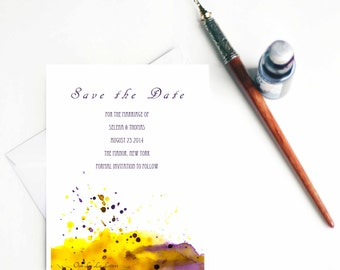 Save the Date Wedding Watercolor Save the Date Watercolor Wedding Save the Date Cards Save the Date Wedding Watercolor Stationery DEPOSIT