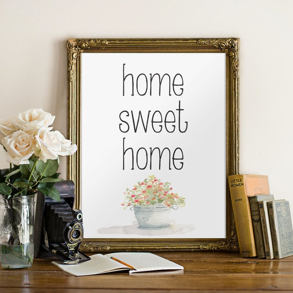 home sweet home wall art decor entrance wall by twobrushesdesigns. Black Bedroom Furniture Sets. Home Design Ideas