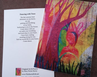 Fine Art Notecard - Dancing with Trees